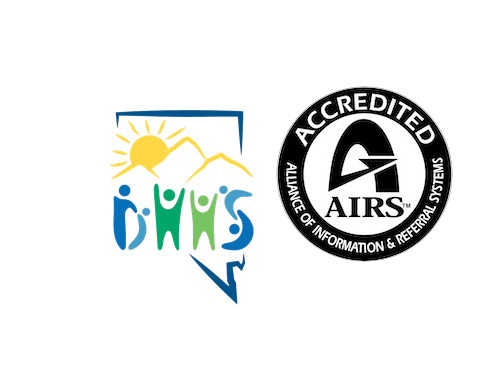 Nevada 211 Money Management International, Department of Health and Human Services, and AIRS Accredited Logos